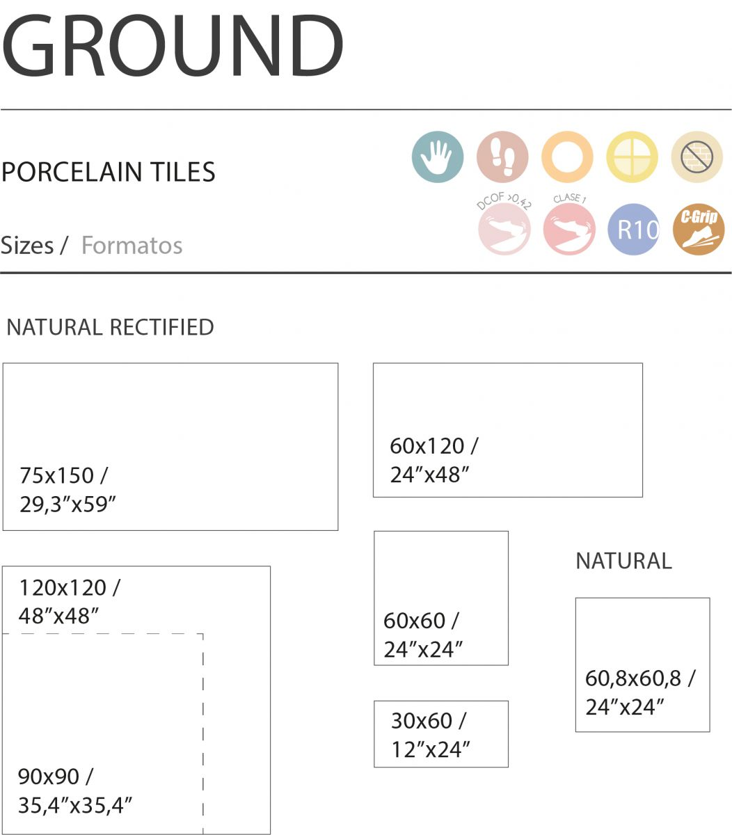 120x120 cm ground marengo
