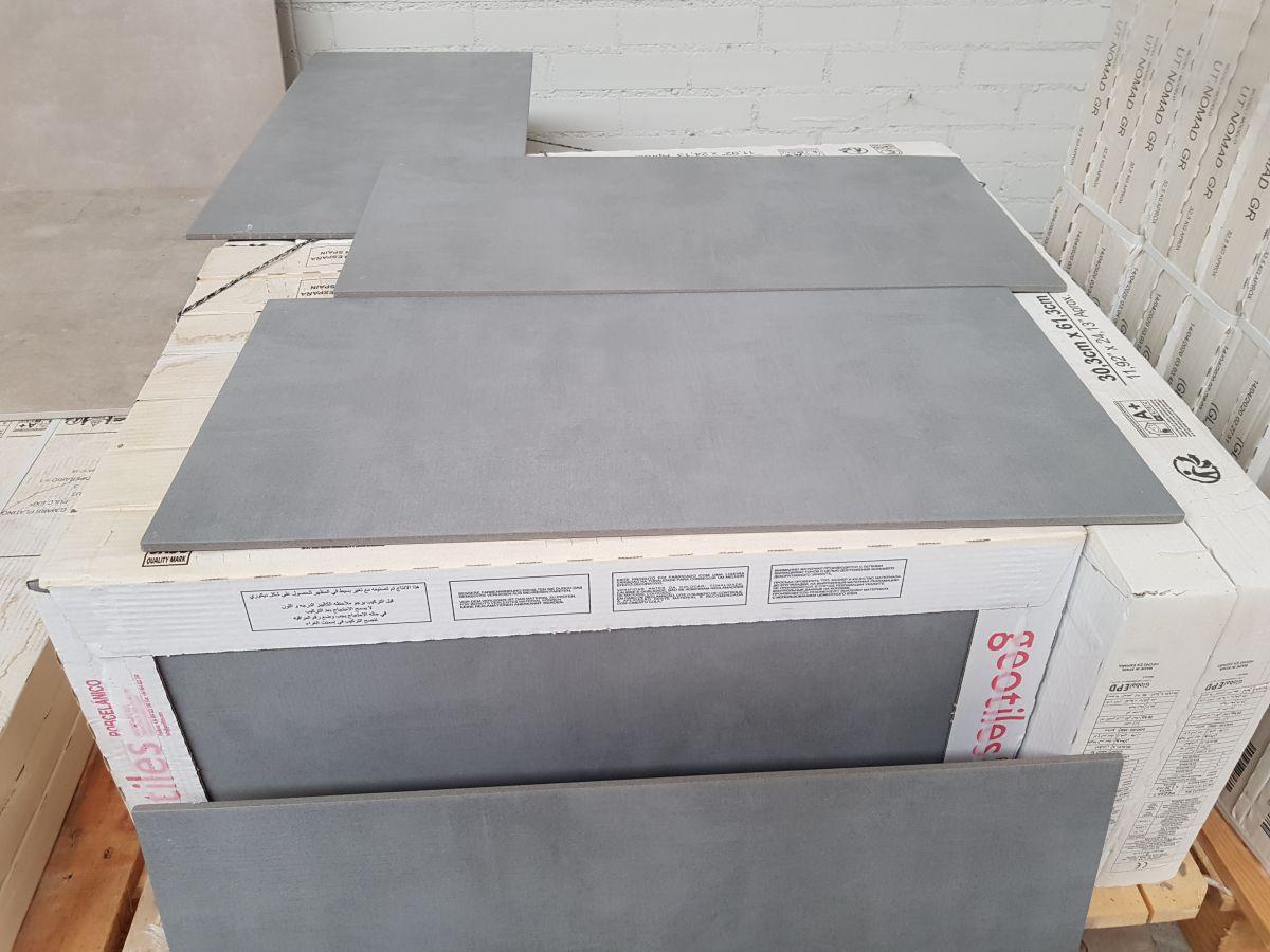 30x60 cm cemento gris