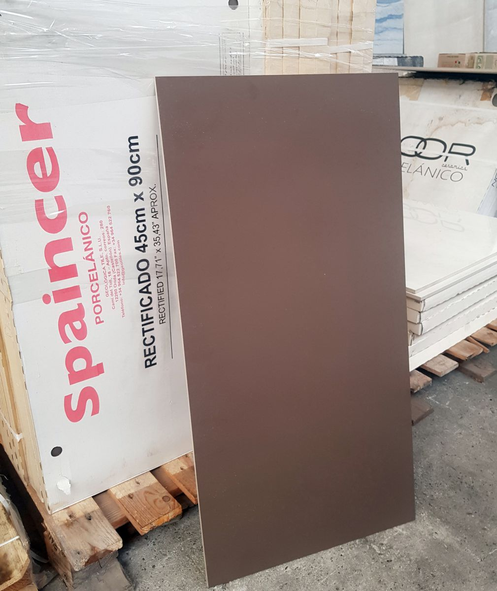 45x90 cm coffee kleur mat