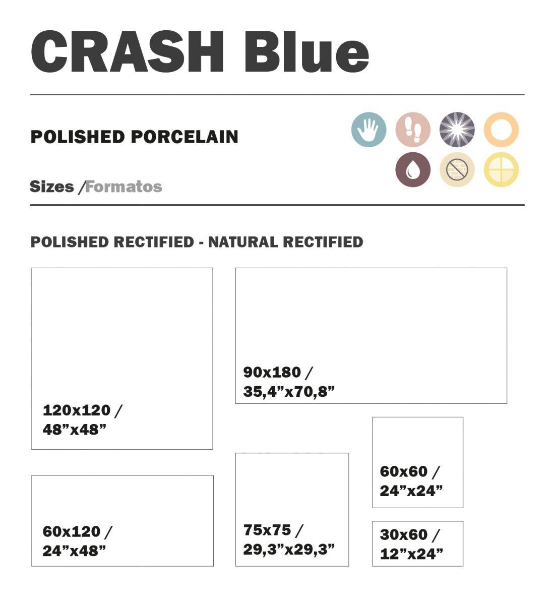 90x180 cm crash blue topkwaliteit spaans tegels