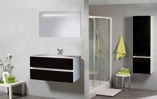 Kolomkast Badkamer Zwart : Hoge kast cm hoogglans wit badkamer bestellen