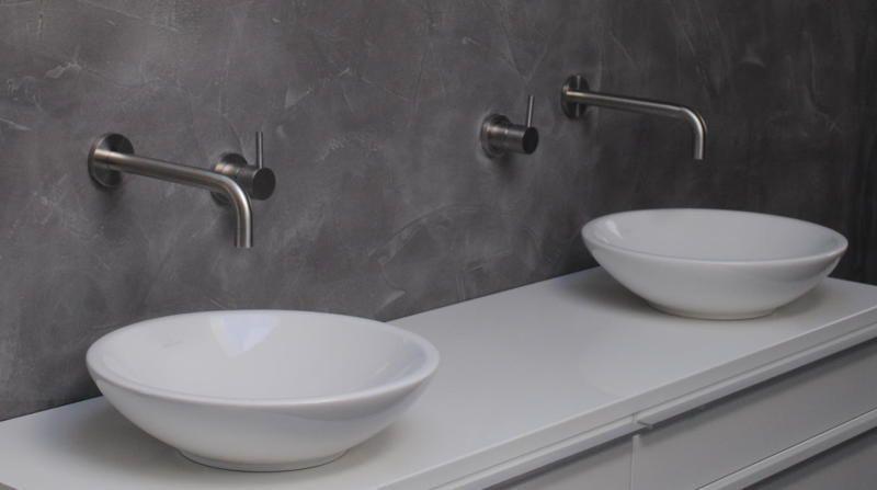 Badkamer Wastafel Outlet : Rvs inbouwset voor wastafel met 20 of 25cm uitloop. tegel outlet